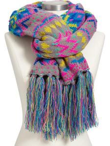 Fair Isle Sweater-Knit Scarf $12.50
