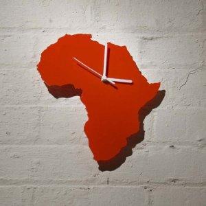 """Africa Clock"" $30, castlehomeware via etsy"