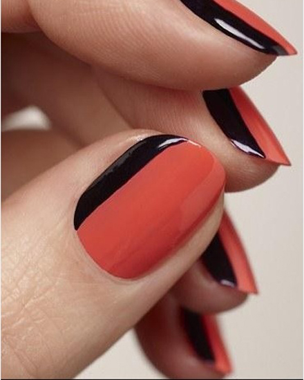 Halloween manis blackburgundy 23 orange and black fall nails halloween manicure solutioingenieria Images