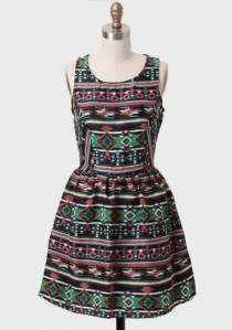 Folklore Aztec Print Dress, $43 at Ruche