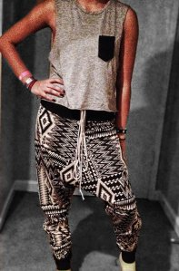 Convertible Aztec Harem Pants, $45 at Thashoppe