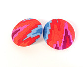 Aztec Mountains Button Earrings, $10 by AncientBrand