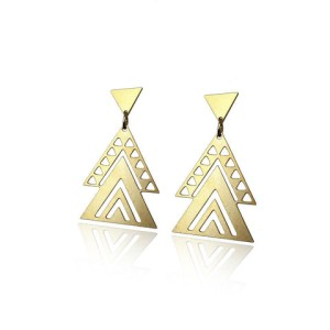 Aztec Earrings, $53 at nimli.com