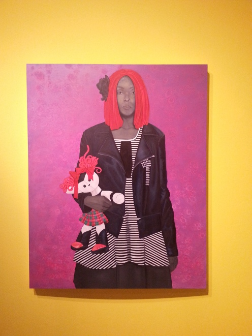 Freeing herself was one thing, claiming ownership was another (red hair)- Amy Sherald, 2015