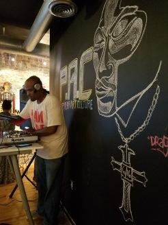 chalk artist: Demayne Ginyard